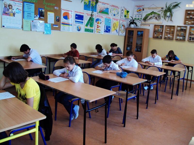 Konkurs matematyczny w Gimnazjum